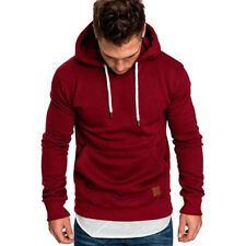 Men Hooded Hoodie Coat Jacket Outwear Sweater Fit Jumper Loose Pullover Tops