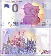Zero - 0 Euro, 2017 - 3 - 3rd Print, UNC, Tombeau De Napoleon in France