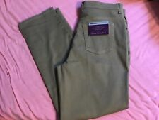 gloria vanderbilt amanda jeans khaki color sz 14 nwt