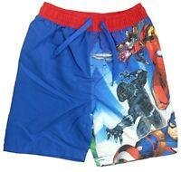 Boys Avengers Assemble Black Panther Swimming Shorts Kids Trunks Childrens Hulk