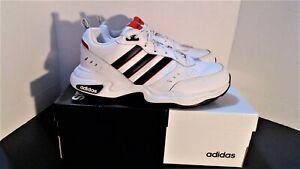 Adidas Sz.13 White, Black & Red Wide Strutter Training Sneakers EG5140