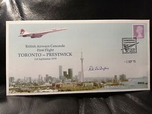 Concorde Cover Toronto- Prestwick Anniversary Signed By Captain Duffey