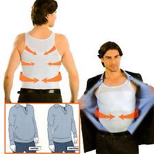 Formfit Bauchweg Schlankheits Unterhemd Herren Figur Shirt 2er-Set Gr. L weiß