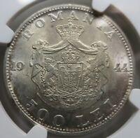 ROMANIA 500 lei 1944 NGC MS 61 UNC