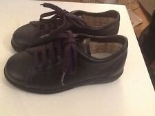 Childrens Navy Blue Leather Lace Up Shoes Size 11 /30 Brand New