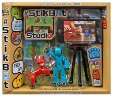 Pets Stikbot Studio 3-Inch [Teal & Red Cat]