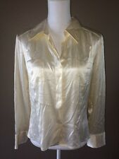 Piazza Sempione Ivory Silk V Neck Pull Over Women's Blouse
