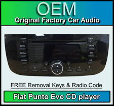 Fiat Punto Evo CD player, Fiat car stereo with radio code & removal keys