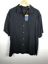Tommy Bahama Mens Sz Large Dealer's Choice Embroidered Silk Shirt NWT *Flaws (F)
