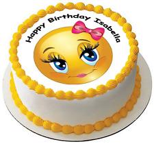 CUTE EMOJI 7.5 PREMIUM Edible ICING Cake Topper CAN PERSONALISED D2
