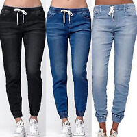 Damen Stretch Jeans Hose Röhrenhosen Jeanshose Röhre Skinny Treggings Jeggings