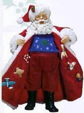 "RETIRED KURT ADLER FABRICHE ""Santa's Hidden Surprise"" 2005 GIFTS IN COAT NIB"