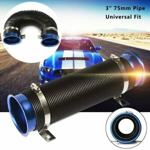 Universal 3'' Inch Modified Flexible Cold Air Intake Pipe Inlet Hose Tube
