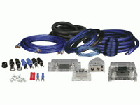 Install Bay AK01 0 Gauge Amp Kit Rca Cables Anl Fuse Holders & Complete Hardware