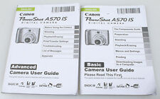 CANON POWERSHOT A570 IS MANUALS, SET OF 2, BASIC   ADVANCED