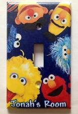 PERSONALIZED SESAME STREET GANG LIGHT SWITCH PLATE COVER