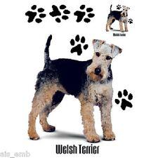 Welsh Terrier Dog Heat Press Transfer for T Shirt Tote Sweatshirt Fabric 911c