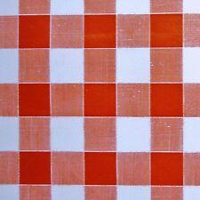 """Red & White PVC Tovaglia 1/2"""" (15 mm) Tessuto Percalle (per Metro)"""