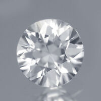 $19.99 1PC Round 6mm Diamond Cut AAA Natural White Zircon 1CT. Excellent Luster!