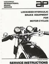 Norton Triumph Lockheed motorcycle disc brake service instructions
