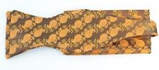 New Classic Fashion Stylish Woven Men's Bow Tie Yellow Paisley Matching Hanky