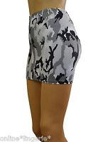 Mini Skirt CAMO Grey White Black Stretch Lycra Clubwear PARTY Bodycon Womens S38
