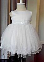 Abito vestito bambina battesimo damigella pois elegante tulle compleanno smanica