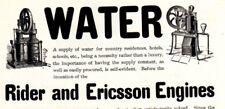 1902 ad Vintage Water Rider Ericsson Engine Co Oldsmobile Runs Everywhere car