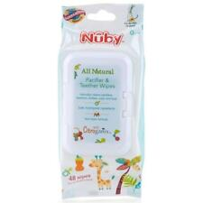 New Nuby Citroganix Pacifier Dummy and Teether Wipes 48PK Natural Non-Toxic Wipe