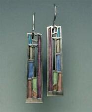 Party Gift Multi-Color Gemstone Woman 925 Silver Ear Hook Drop Dangle Earrings