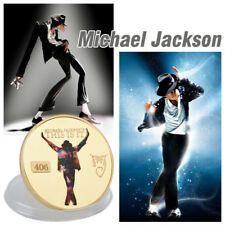 WR Michael Jackson This Is It The King Pop GOLD Commemorative Coin Memorial Gift