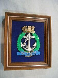 England Königliche Marine Zerstörer RNA SIDCUP Verbandsabzeichen Wappen Samt Hol