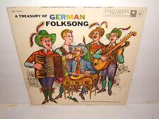 A TREASURY OF GERMAN FOLKSONG- VIENNA RADIO CHIOR.ML 5344. LP RECORD