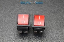 2 PCS ROCKER SWITCH DPST ON OFF TOGGLE 15 AMP 250V 20 AMP 125V 4 PIN EC-2604