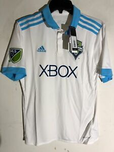 Adidas Youth MLS Jersey Seattle Sounders Team White Alt sz L