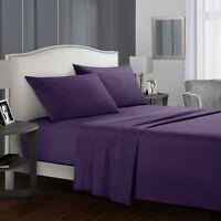 4x Bed Sheets Ultra Soft Bedding Flat Sheets Duvet Cover Pillowcase Home Set Kit
