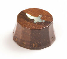 Tone Ninja PRS-style 'Lampshade' Guitar Knob Cocobolo Wood Inlaid Abalone Bird