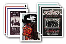 BLOOD SWEAT AND TEARS  - 10 promotional posters - collectable postcard set # 1