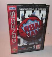 NBA Jam (Sega Genesis, 1994) Complete CIB Fun Basketball Game w/ POSTER