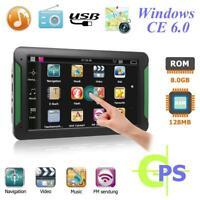 """7 """" Pouces Camion Voiture Navigation GPS Auto Navi 8GB Transmetteur Fm Eu Carte"""