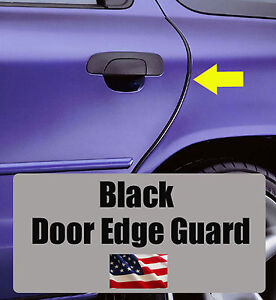 4pcs BLACK Door Edge Guard Trim Molding Protector VOLVO4BG