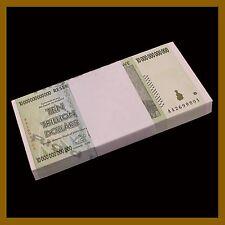 Zimbabwe 10 Trillion Dollars  x 50 Pcs Bundle, 2008 AA Unc, 100 T Series