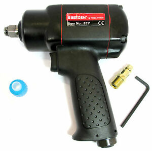 Air Impact Wrench Gun 1/2 Inch Drive 15 to 380Nm 280 ft lbs By Bergen 8511