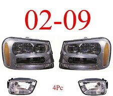 02 09 Trailblazer 4Pc Head & Fog Light Assembly, Chevy SUV, New In Box