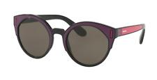 Prada SPR 03U SSA-5S2 Sunglasses Black Bordeaux Fuchsia Frame Brown Lenses 53mm