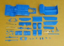 AMT 1/25 1966 CHEVY NOVA PRO STREET CHASSIS, INTERIOR AND RELATED PARTS