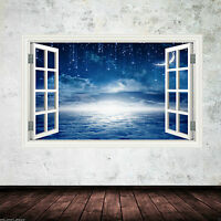 NIGHT SKY MOON STARS Wall Art sticker Decal Mural Transfer Graphic Print WSD390