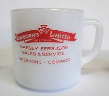 VINTAGE ADVERTISING FEDERAL  MUG MASSEY FERGUSON FIRESTONE ROSETOWN SASKATCHEWAN