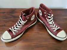 CONVERSE Leather All Star High Tops - Burgundy/Maroon. Size mens 10 / womens 12
