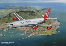 VIRGIN ATLANTIC AIRBUS A340 AIRLINER ART PRINT